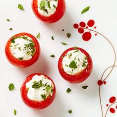 Olive & Goat Cheese Stuffed Cherry Tomatoes