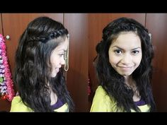 want to try this...Summer Boho Waves Hairstyle with Twisted Bangs Hair Tutorial