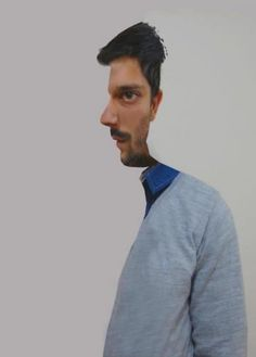 This is trippy! At first it looks like he is looking sideways and then it looks like he is looking forward. So cool.