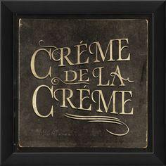 Crème de la Crème Framed Print