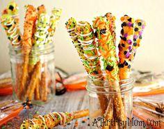 Gourmet Halloween Pretzel Rods