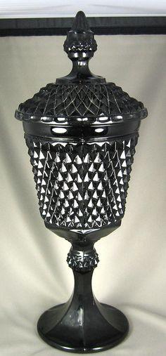 Vintage Tiara Black Glass