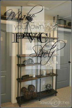 PVC Pipe Shelf