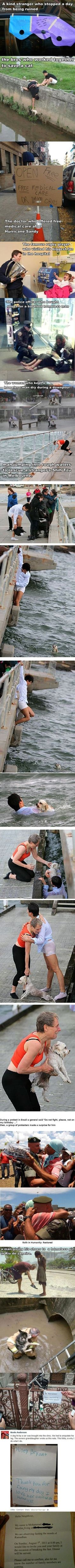 Reviving faith in humanity. This brought tears to my eyes.