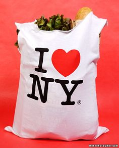 turn an old T-shirt into a reusable shopping or grocery bag