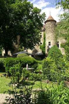 Relais & Chateaux - In the heart of Auvergne, country of winding rivers, pure water lakes, Romanesque art and volcanoes, stands a 15th century fortress. Chateau de Codignat FRANCE #relaischateaux #garden