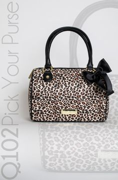 Betsey Johnson - Cheetah Be Mine Satchel.   Go to wkrq.com to find out how to play Q102's Pick Your Purse!
