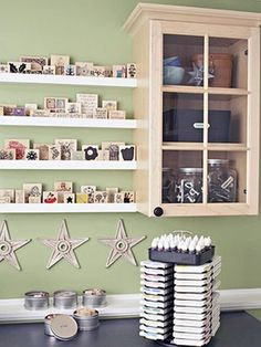 Storing stamps as a display