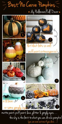 Best No Carve Pumpkin Decorating Ideas
