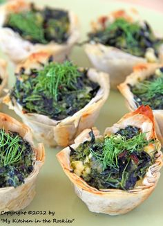 Spanakopita Cups: One of my favorite Greek dishes!