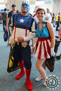 Captain America and Mrs.