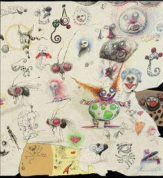 Sketches by Tim Burton