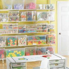 Playroom + toy storage