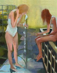 """Jack of Hearts"" by Kimia Kline, oil on panel"