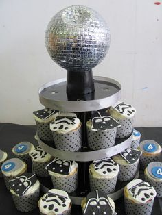 Death star cake and cupcakes at a Star Wars boy birthday party!  See more party ideas at CatchMyParty.com!