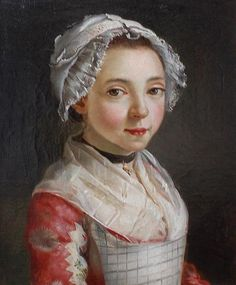 A young servant girl, France, 18thC, attributed to Françoise Duparc (Murcie, 1726 - Marseille, 1778), or Antoine Raspal (Arles, 1738 - 1811).