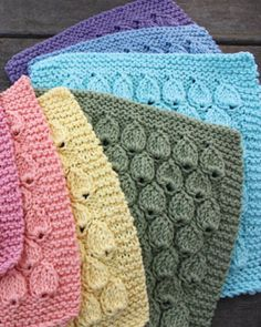 Knit these cheerful dishcloths for a splash of color.