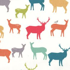 organic elk deer fitted crib sheet by midwestboutique on Etsy, $60.00