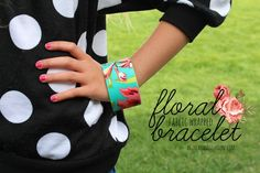 fabric wrapped floral bracelets