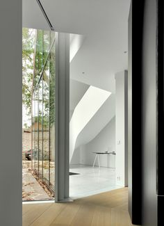 Interior shot of a copper-clad house by Graux & Baeyens