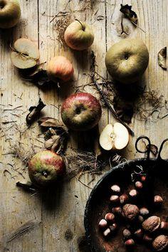 Wild apples, walnuts, & hazelnuts