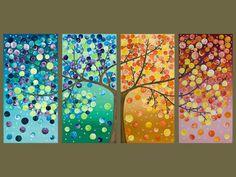 wall art, diy art, seasons, future house, season tree