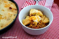 Mommy's Kitchen - Old Fashioned & Country Style Cooking: Chili Cornbread Skillet {Virtual Potluck} {Giveaway Closed}