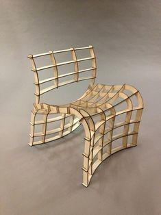 Frederik Alexander Werner, 30-minute Lasercut Chair. @designerwallace