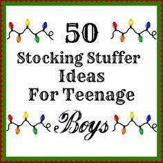 50 Stocking Stuffers For Teenage Boys, TERRIFIC list