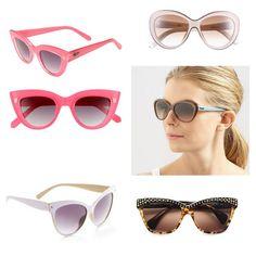 Cats eye sunglasses.