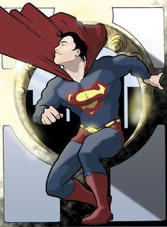 Art Nouveau Superman by Max Davenport