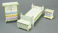 "Bedroom Set -""Springtime"" 4 hand painted pieces"