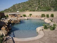 Zwembad on pinterest swimming pools pool designs and for Walk in swimming pool designs