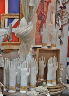 I adore these glove# forms# vintage#