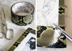DIY: Faux Snakeskin Frame