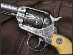 Ruger Single Six .32 by Engraver Dennis Reigel - Rgrips.com
