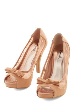 Strawberry Scones Heel. Your favorite treat seems sweeter when you enjoy it while perched in this dusty-rose heels! #pink #wedding #bridesmaid #bride #modcloth