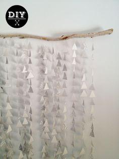 Poppytalk: DIY: Paper Garland Mobile/Backdrop