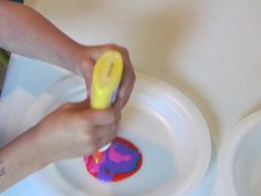 Designing with colored glue from Teach Preschool