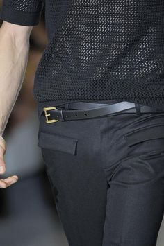 Gucci S/S13 big fan of the double belt look