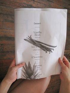 Cool idea for a menu