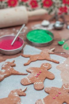 Sweet Potato Gingerbread Men, and Unicorn cookies.