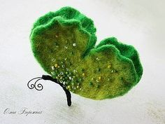 felted butterfly