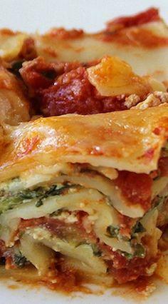 Creamy Spinach Lasagna...