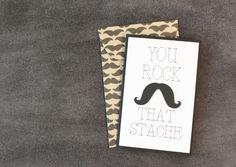 Rock That Stache Card. Make It Now in Cricut Design Space