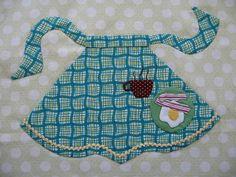 Apron quilt block... a Lori Holt pattern