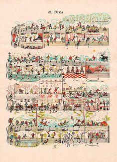 Doodles on sheet music! Fun!