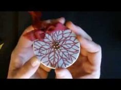 Embossing on Porcelain Ornaments with Deb Valder - YouTube