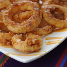 Apple Rings with Cinnamon Cream Syrup for Dipping: Not-Your-Mama's Apple Dessert Recipe | Apron Strings