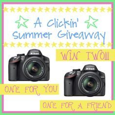 Clickin' Summer Giveaway | Real Housemoms | Win a Nikon camera for you and one for a friend!!!